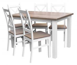 Stół z 5 krzesłami do salonu